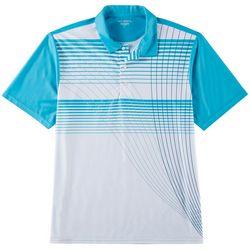 Golf America Mens Radiating Stripe Performance Polo Shirt
