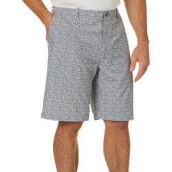 Golf America Mens Pixel Print Golf Shorts
