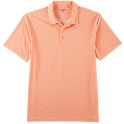 Golf America Mens Solid Heathered Performance Polo Shirt