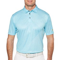 Jack Nicklaus Mens Golf Asymmetrical Print Polo Shirt
