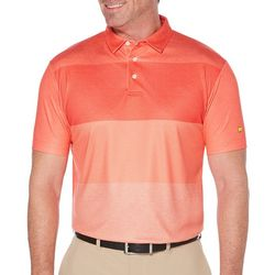 Jack Nicklaus Mens Heather Stripe Print Polo Shirt