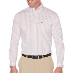 Jack Nicklaus Mens 4 Color Mini Plaid Long Sleeve Shirt
