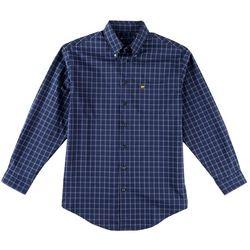 Jack Nicklaus Mens 3 Color Plaid Long Sleeve Shirt
