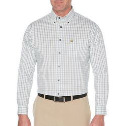 Jack Nicklaus Mens Mini Plaid Long Sleeve Shirt