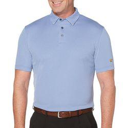 Jack Nicklaus Mens Mini Plaid Jaquard Polo Shirt