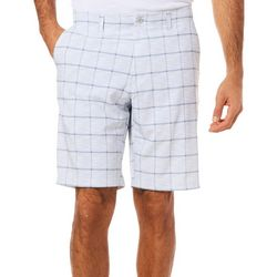 Jack Nicklaus Mens Heathered Windowpane Shorts
