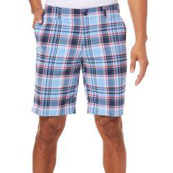 Jack Nicklaus Mens Madras Plaid Stretch Shorts