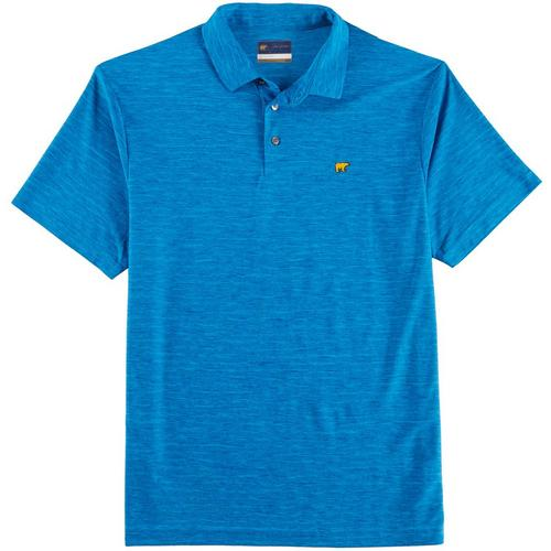 58929a640 Jack Nicklaus Mens Space Dye Short Sleeve Polo Shirt