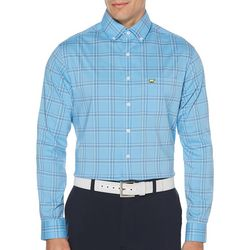 Jack Nicklaus Mens Multi Color Plaid Long Sleeve Shirt