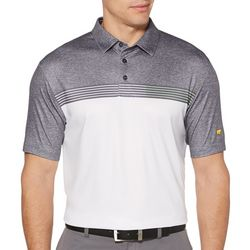 Jack Nicklaus Mens Stacked Heathered Short Sleeve Polo Shirt