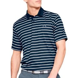 Under Armour Mens UA Performance Stripe Golf Polo Shirt