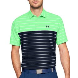 Under Armour Mens Playoff Striped Polo Shirt