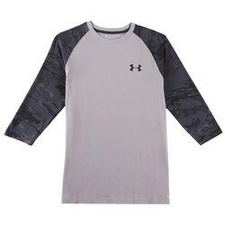 Under Armour Mens Showdown Camo 3/4 Sleeve T-Shirt