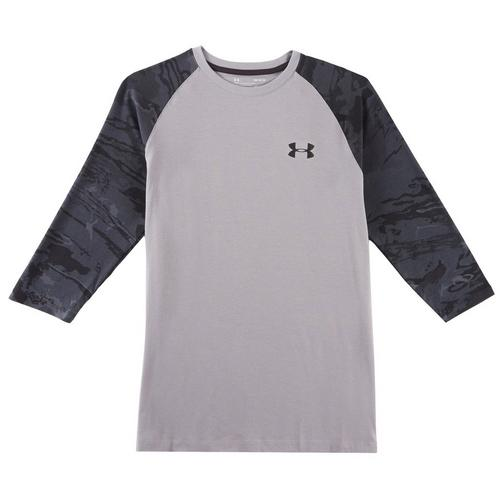 69584cfb46 Under Armour Mens Showdown Camo 3/4 Sleeve T-Shirt