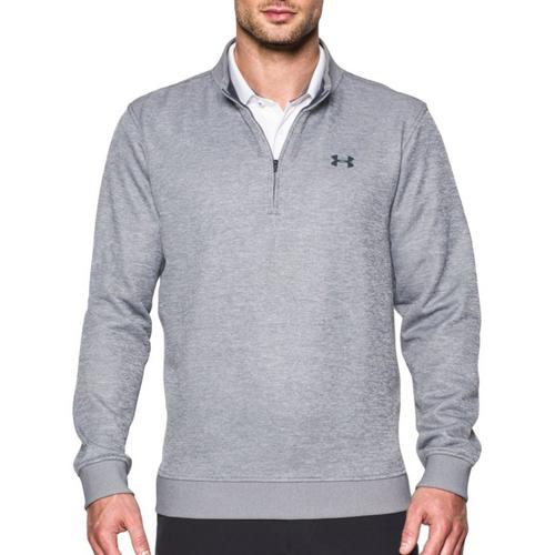 Boy/'s Youth Under Armour Loose Fit Quarter Zip Long Sleeve Polyester Shirt