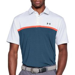 Under Armour Mens Stripe Colorblock Playoff Polo Shirt