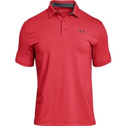 Under Armour Mens Striped Print Playoff Polo Shirt