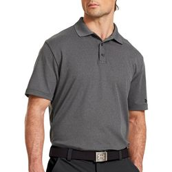 Under Armour Mens Golf Performance Heathered Polo Shirt