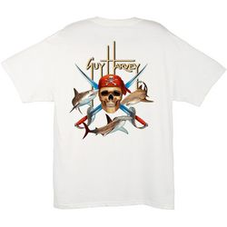 Guy Harvey Mens Pirate Shark T-Shirt