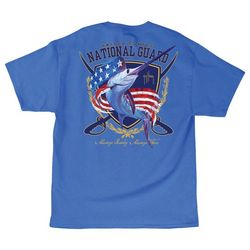 Guy Harvey Mens National Guard Short Sleeve T-Shirt