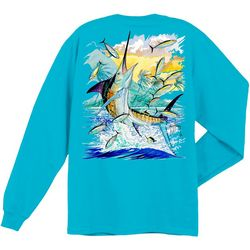 Guy Harvey Mens Island Marlin Long Sleeve T-Shirt