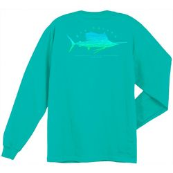 Guy Harvey Mens Sailfish Scribble Crew Long Sleeve T-Shirt