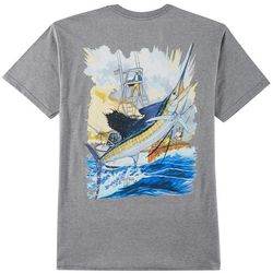 Guy Harvey Mens Sailfish & Boat Short Sleeve T-Shirt