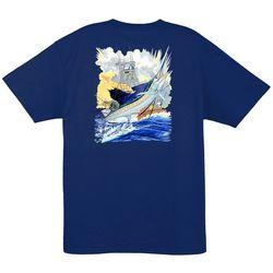 Guy Harvey Mens Sailfish & Boat Short Sleeve T-Shirt