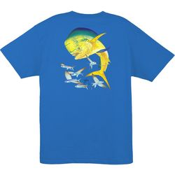 Guy Harvey Mens Bull Dolphin Short Sleeve T-Shirt