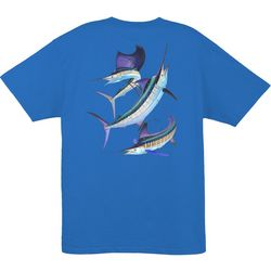 Guy Harvey Mens Grand Slam Short Sleeve T-Shirt