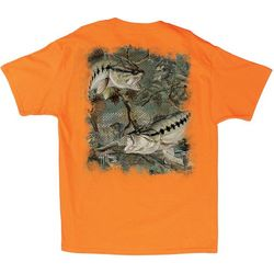 Guy Harvey Mens Bass Camo T-Shirt