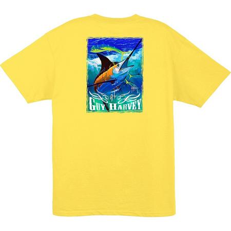 2d1ca6efef2e Guy Harvey Mens Marlin   Dolphin T-Shirt