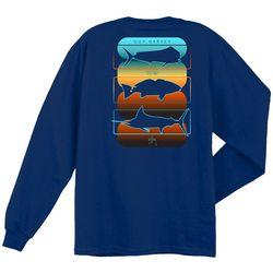 Guy Harvey Mens Nirvana Fish Long Sleeve T-Shirt