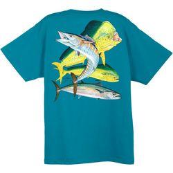 Guy Harvey Mens Dolphin Wahoo T-Shirt