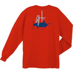 Guy Harvey Mens Initial Logo Long Sleeve T-Shirt