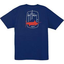 Guy Harvey Mens Barrel Logo Crew T-Shirt
