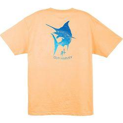 Guy Harvey Mens Marlin Scribble T-Shirt