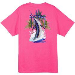 Guy Harvey Mens Palm Tree Splash T-Shirt