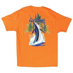 Guy Harvey Mens Palm Tree Splash T-Shirt