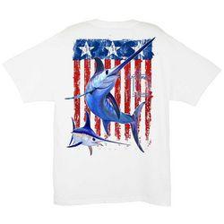Guy Harvey Mens Swordfish Flag T-Shirt