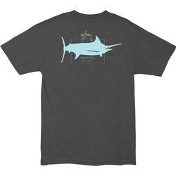 Guy Harvey Mens Logo Heathered T-Shirt