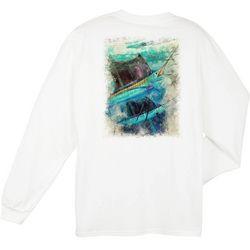 Guy Harvey Mens Paradise Long Sleeve T-Shirt