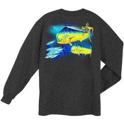 Guy Harvey Mens Double Dorado Long Sleeve T-Shirt
