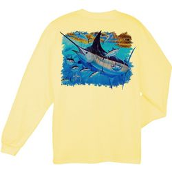 Guy Harvey Mens Mosaic Long Sleeve T-Shirt