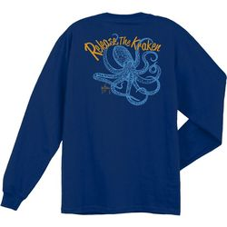 Guy Harvey Mens Release The Kraken Long Sleeve T-Shirt