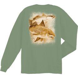Guy Harvey Mens Leadfish Long Sleeve T-Shirt