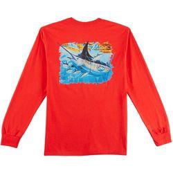 Guy Harvey Mens Mosaic Long Sleeve Crew T-Shirt