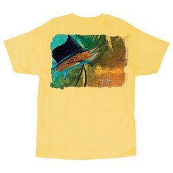 Guy Harvey Mens Vela Sola Short Sleeve T-Shirt