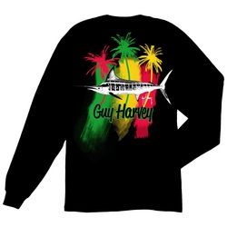 Guy Harvey Mens Striper Long Sleeve T-Shirt