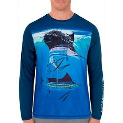 Guy Harvey Mens Dueling Sailfish Long Sleeve T-Shirt